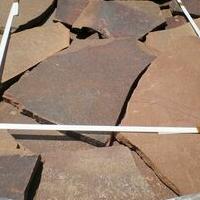 Камень Обожжённый терракотово-красный природный натуральный