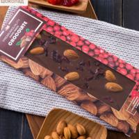 Шоколад БЕЗ САХАРА серии « Миндаль-клюква»